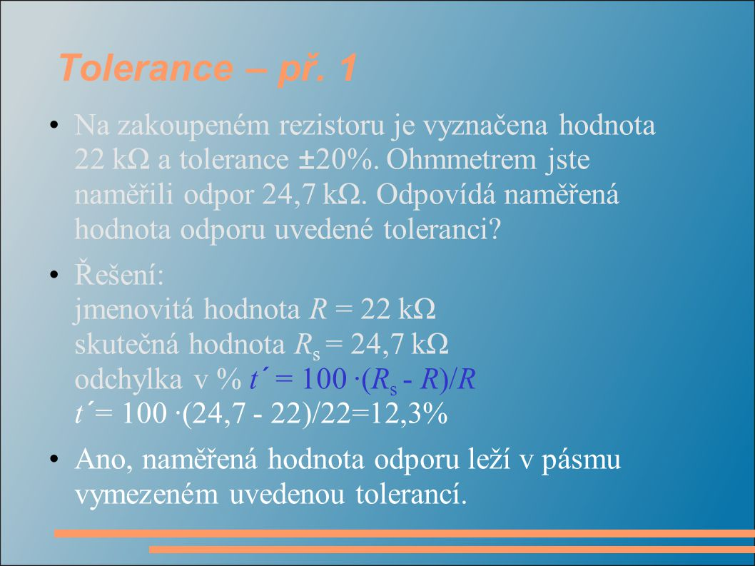 Tolerance – př. 1