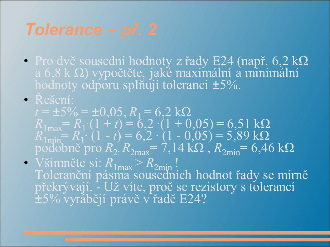 Tolerance – př. 2