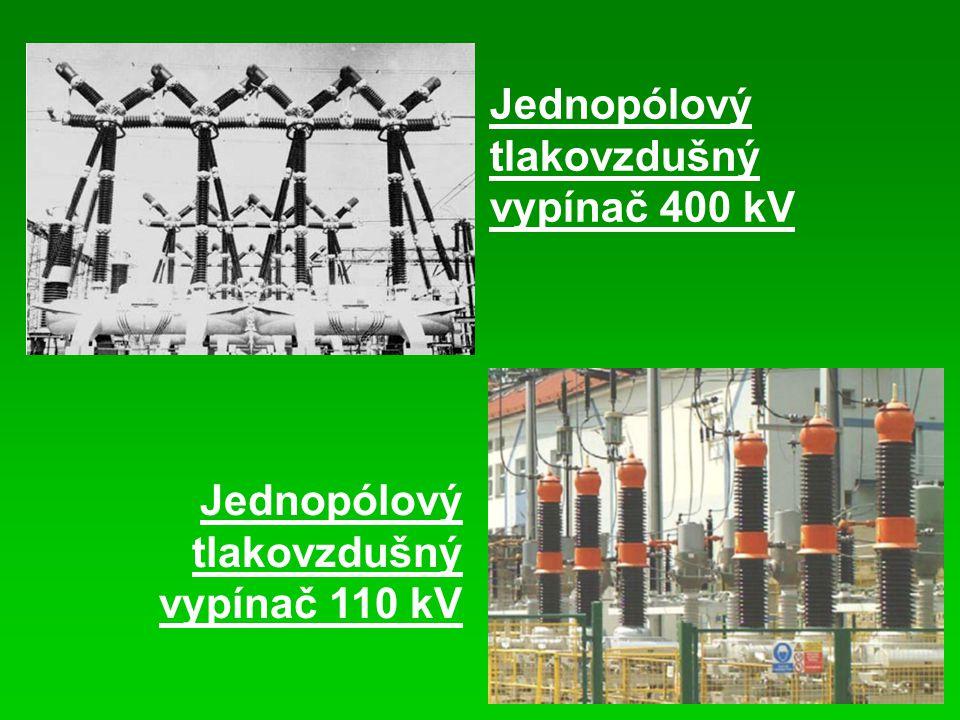 Jednopólový tlakovzdušný vypínač 400 kV