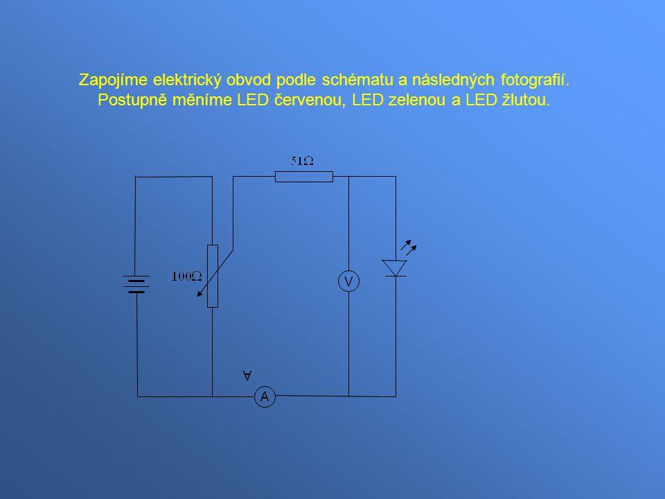 Zapojíme elektrický obvod podle schématu a následných fotografií