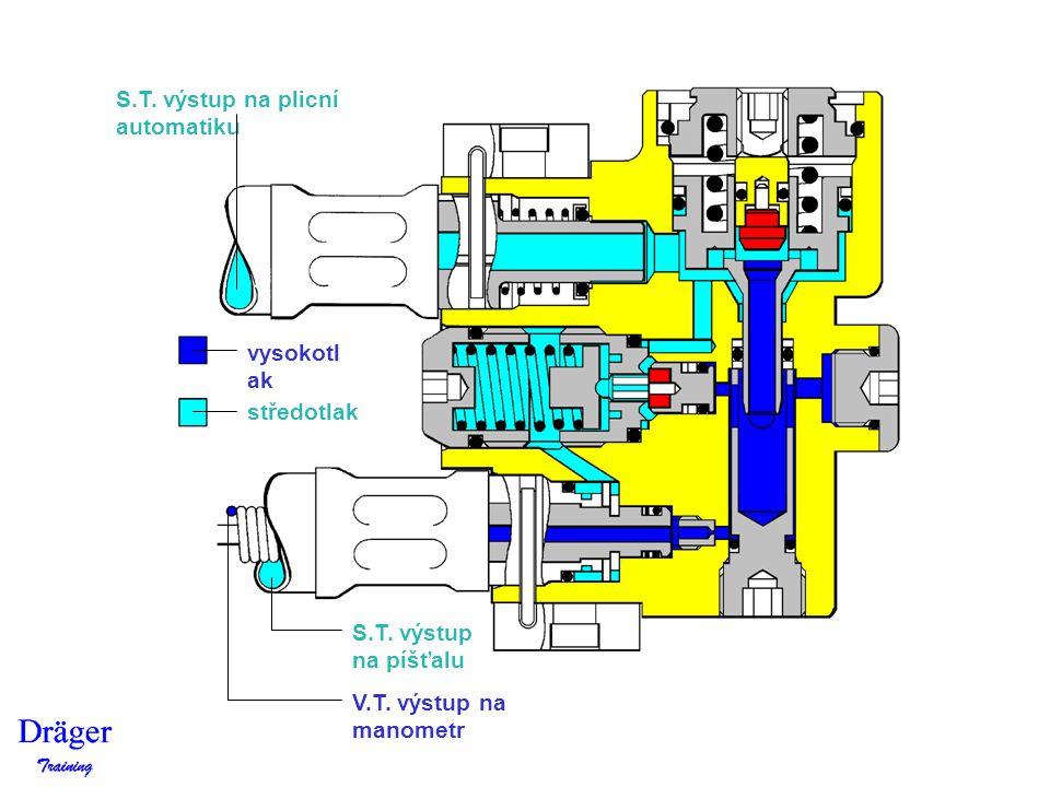 S.T. výstup na plicní automatiku