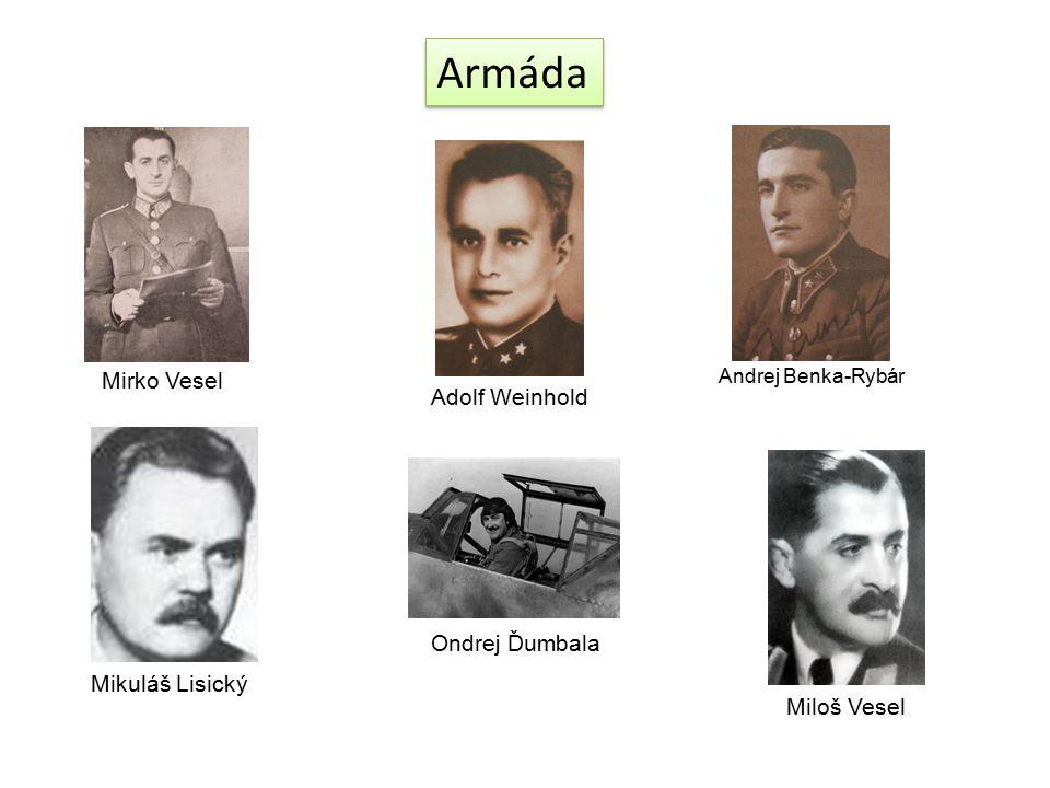 Armáda Mirko Vesel Adolf Weinhold Ondrej Ďumbala Mikuláš Lisický
