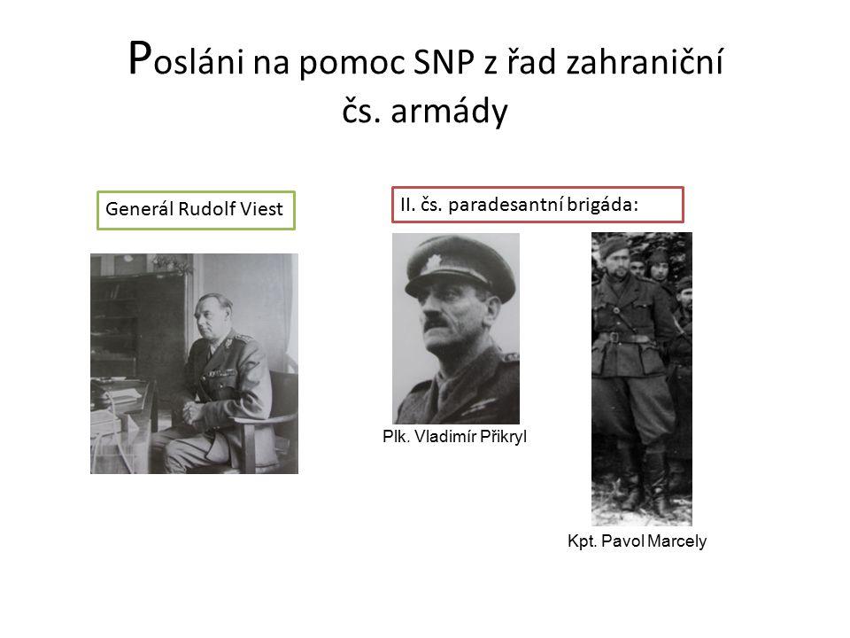 Posláni na pomoc SNP z řad zahraniční čs. armády
