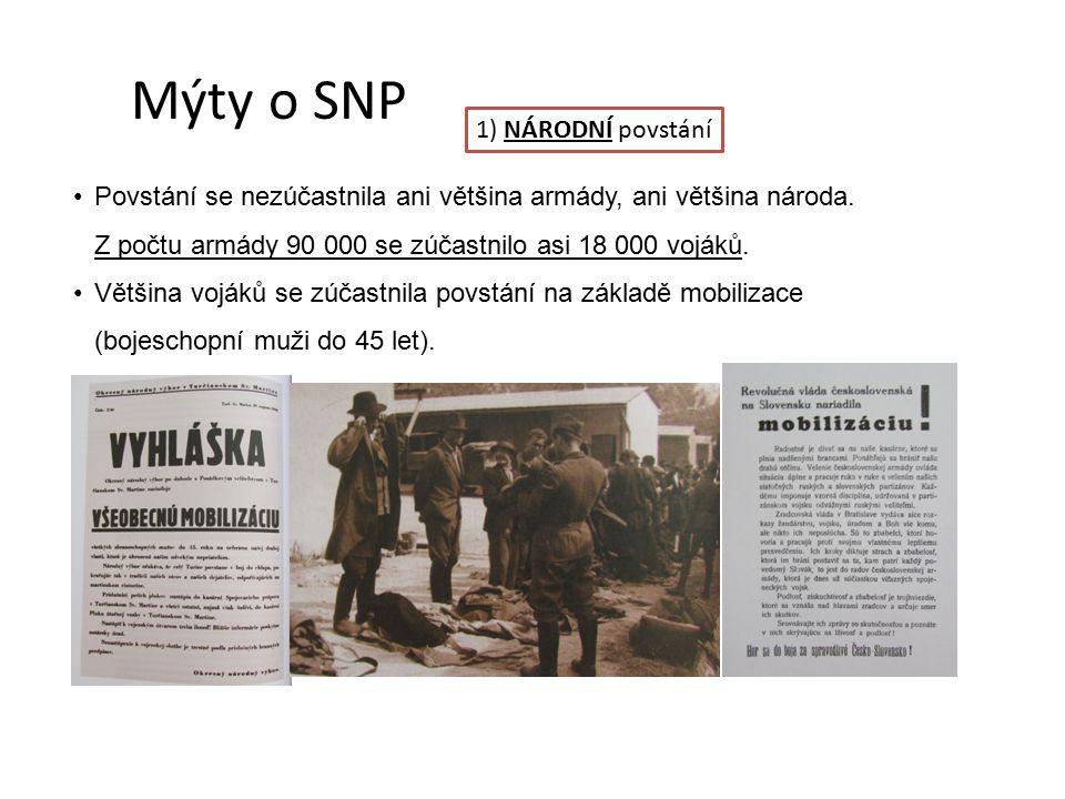 Mýty o SNP 1) NÁRODNÍ povstání