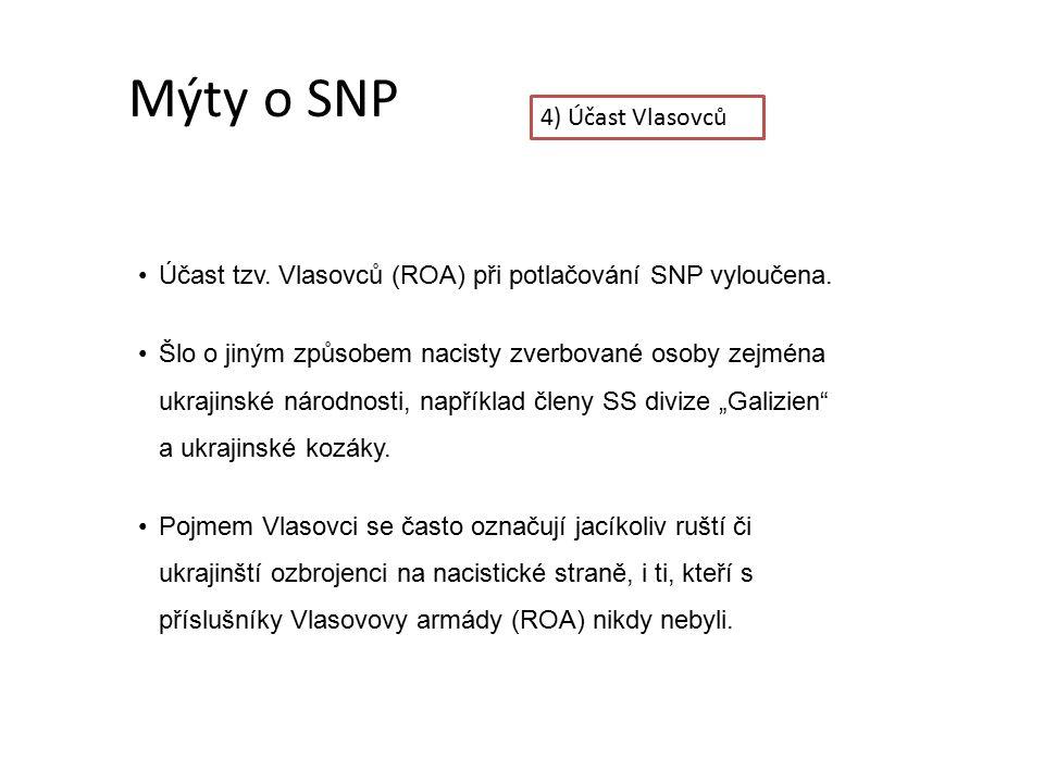Mýty o SNP 4) Účast Vlasovců