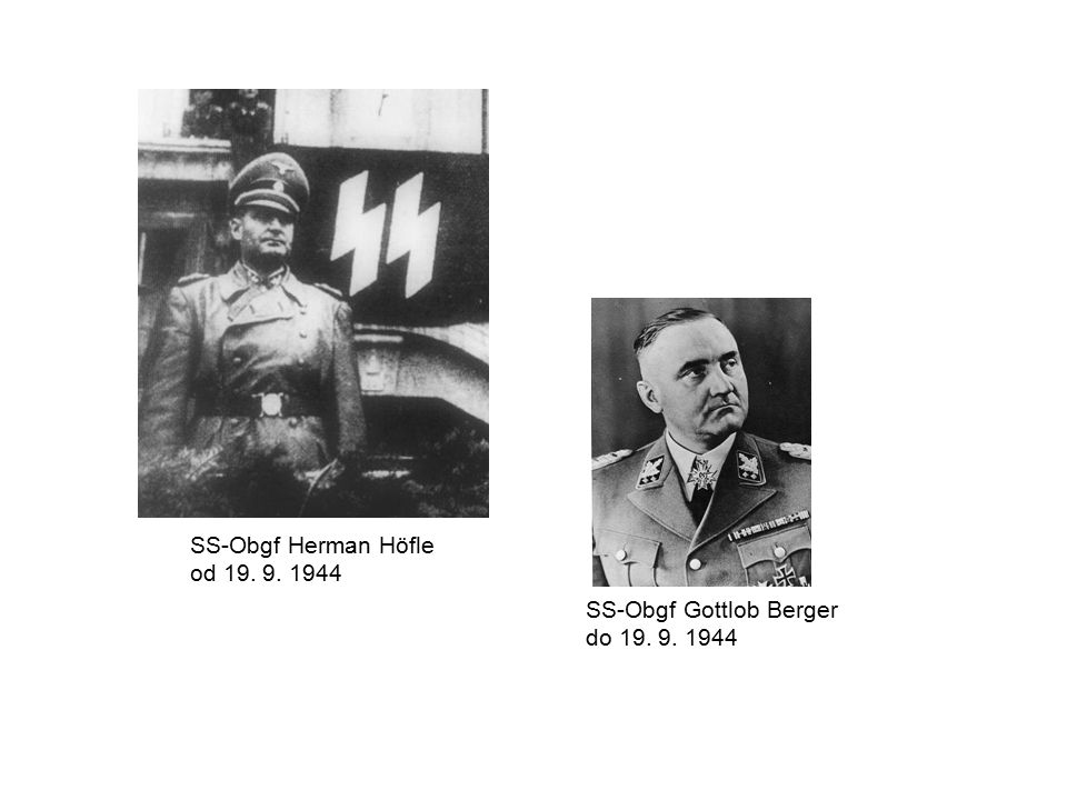SS-Obgf Herman Höfle od 19. 9. 1944