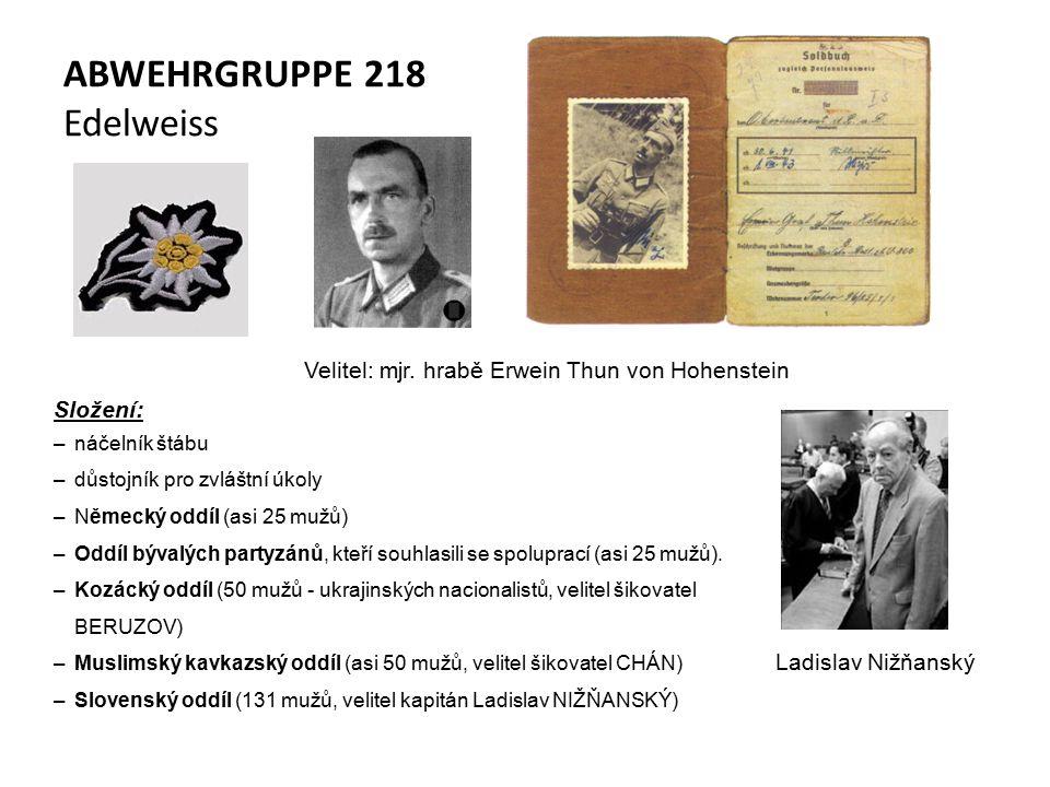 ABWEHRGRUPPE 218 Edelweiss