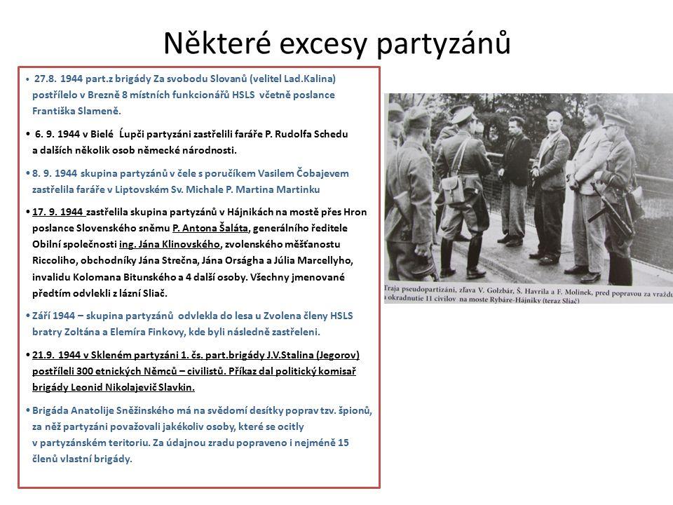 Některé excesy partyzánů