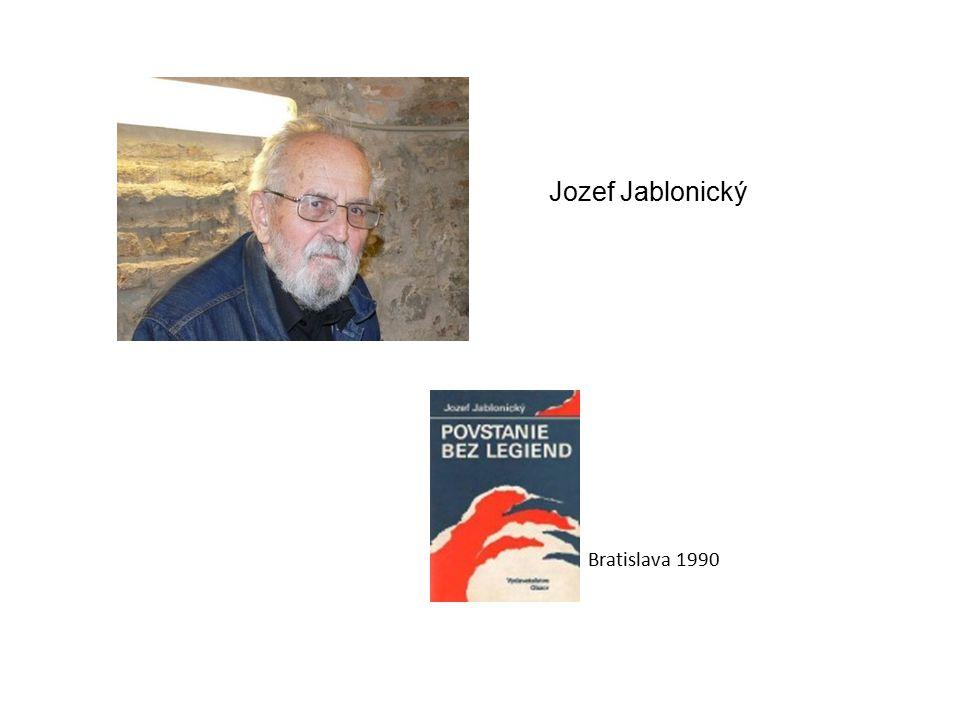 Jozef Jablonický Bratislava 1990