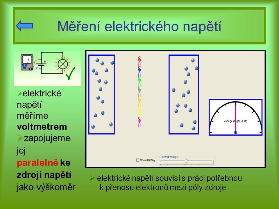 Měření elektrického napětí