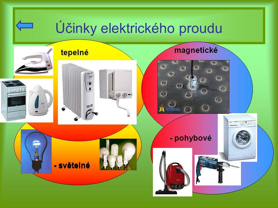Účinky elektrického proudu
