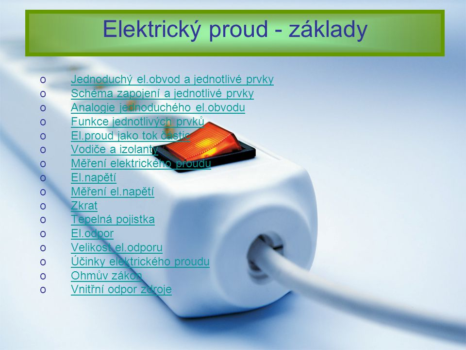 Elektrický proud - základy