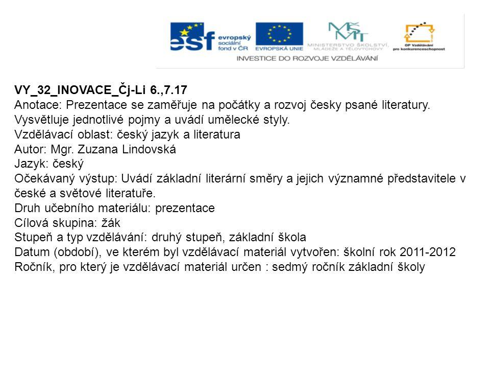 VY_32_INOVACE_Čj-Li 6.,7.17