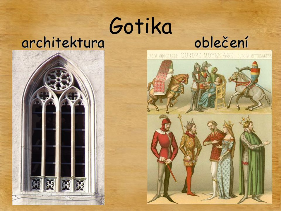 Gotika architektura oblečení
