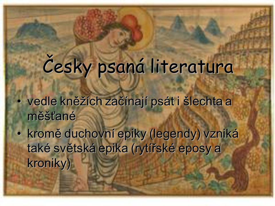 Česky psaná literatura