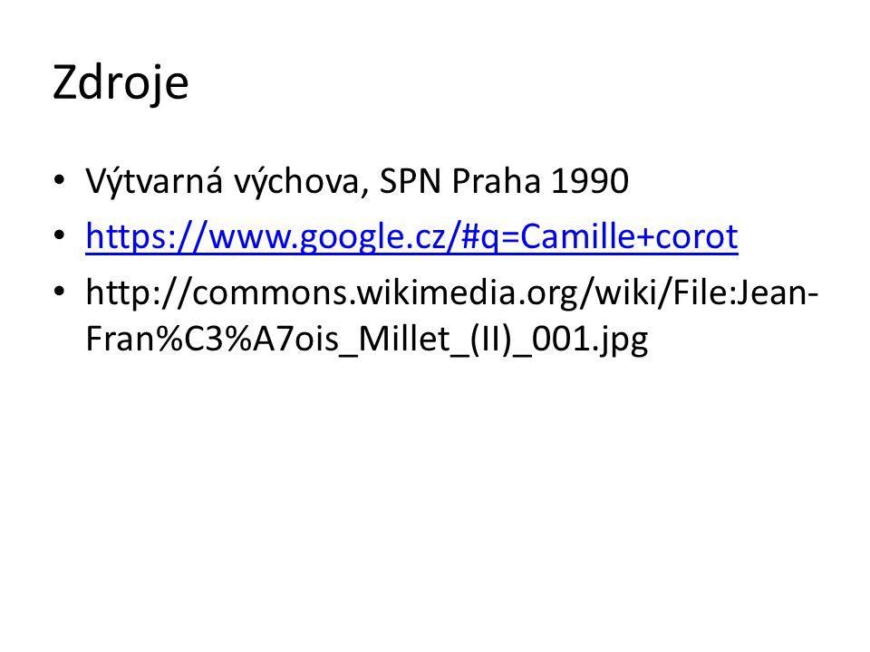 Zdroje Výtvarná výchova, SPN Praha 1990