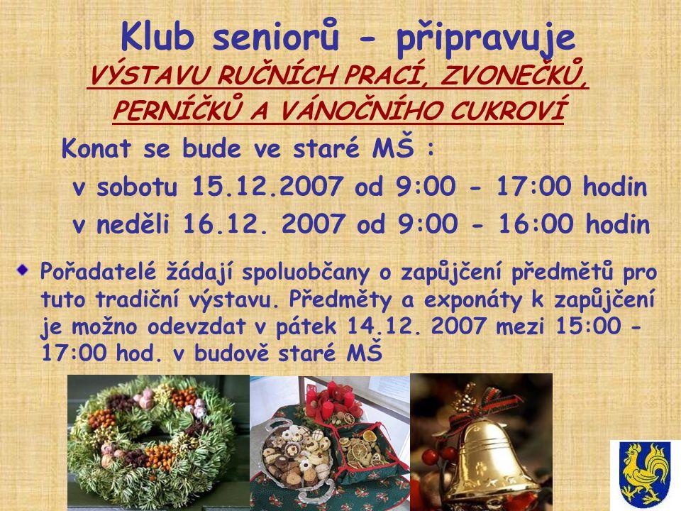 Klub seniorů - připravuje