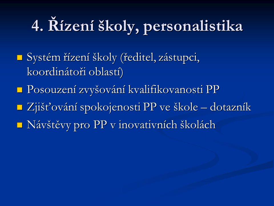 4. Řízení školy, personalistika