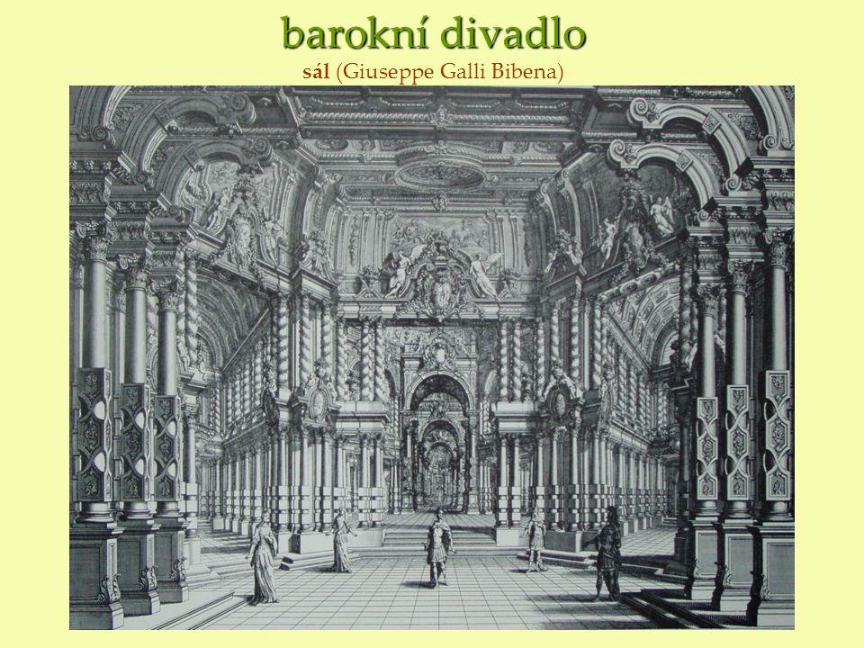 barokní divadlo sál (Giuseppe Galli Bibena)