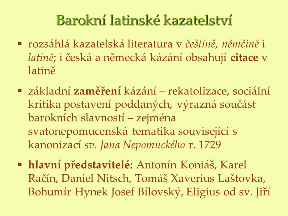 Barokní latinské kazatelství