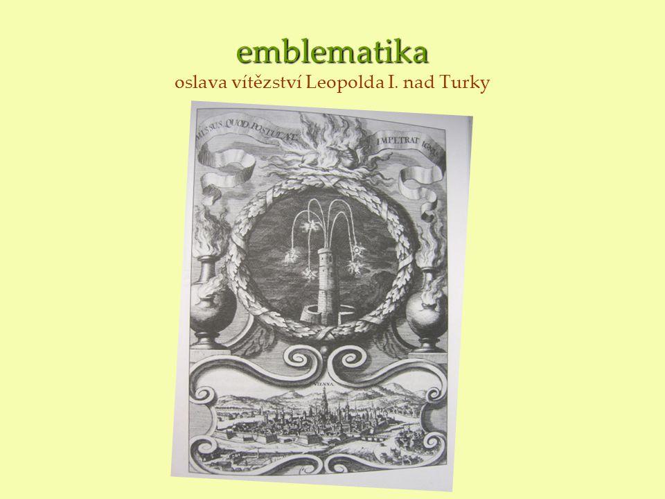 emblematika oslava vítězství Leopolda I. nad Turky