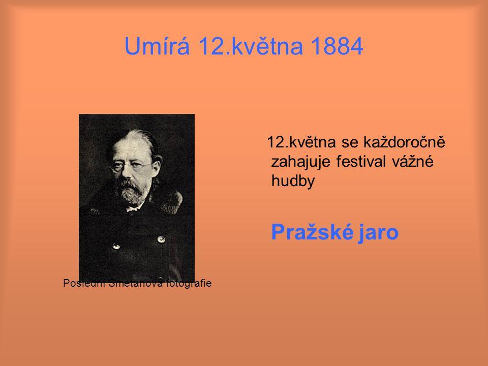 Umírá 12.května 1884 Pražské jaro