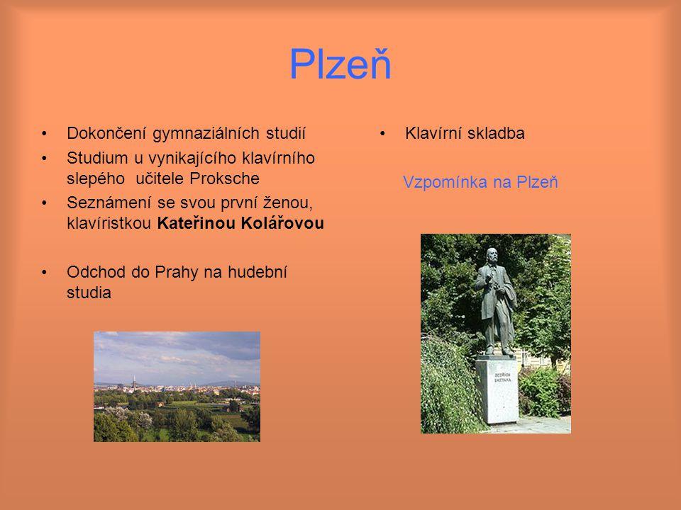 Plzeň Dokončení gymnaziálních studií