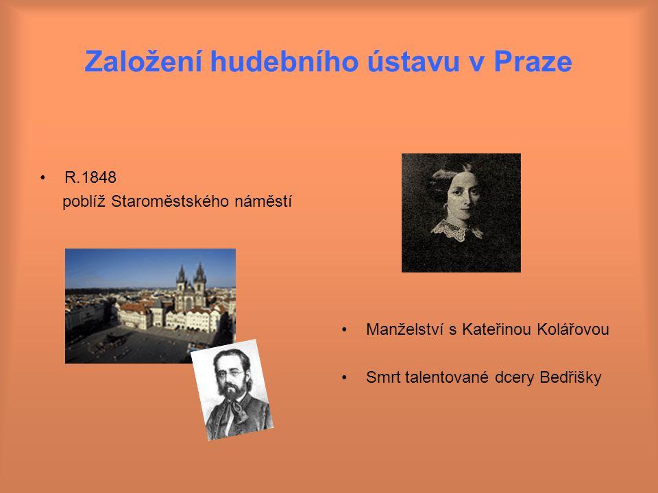 Založení hudebního ústavu v Praze
