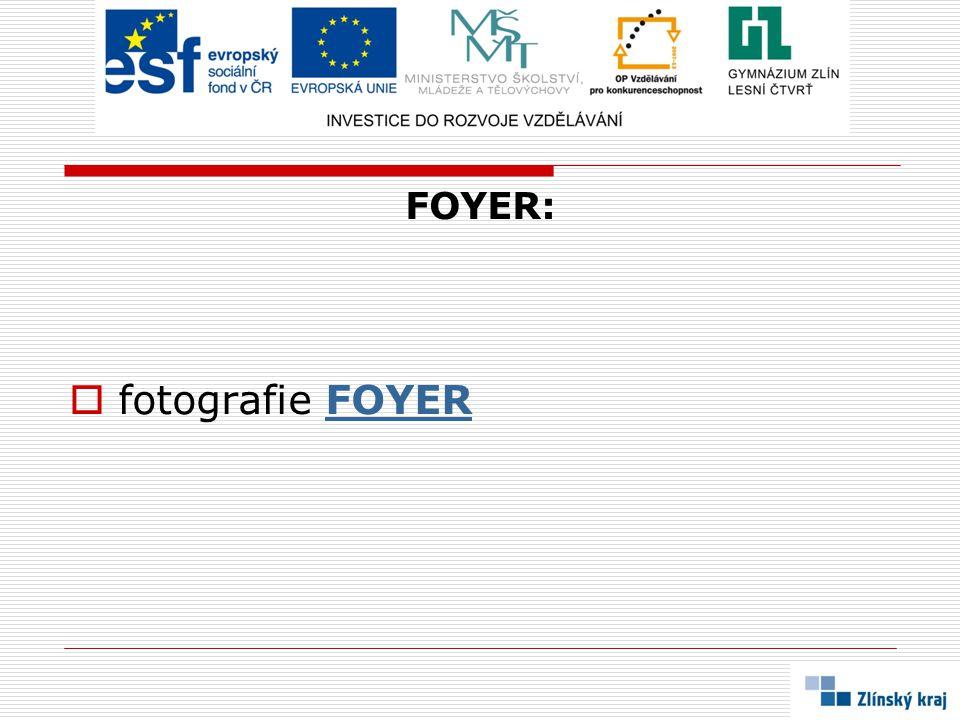 FOYER: fotografie FOYER