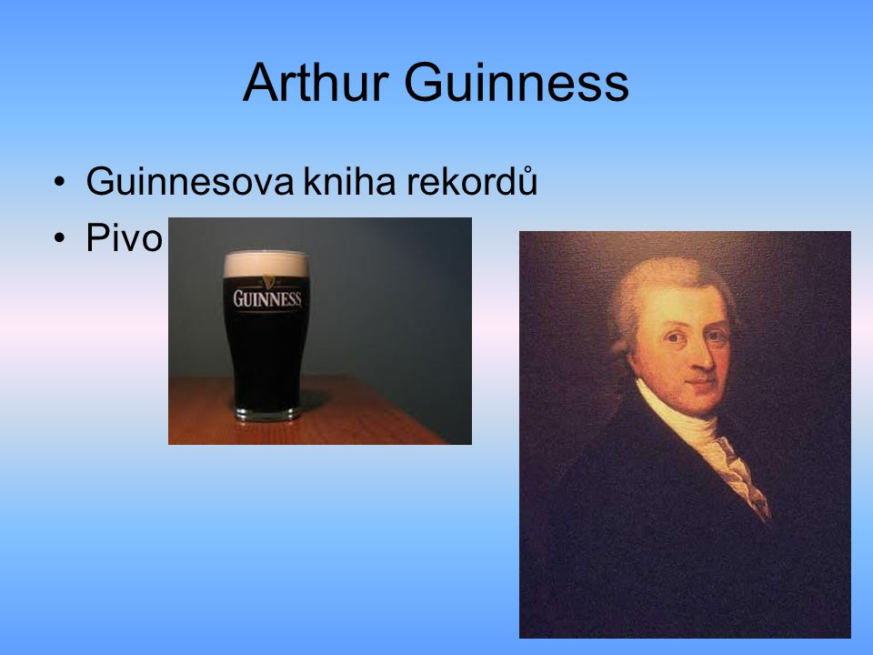 Arthur Guinness Guinnesova kniha rekordů Pivo