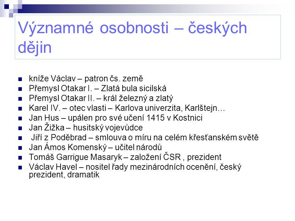 Významné osobnosti – českých dějin