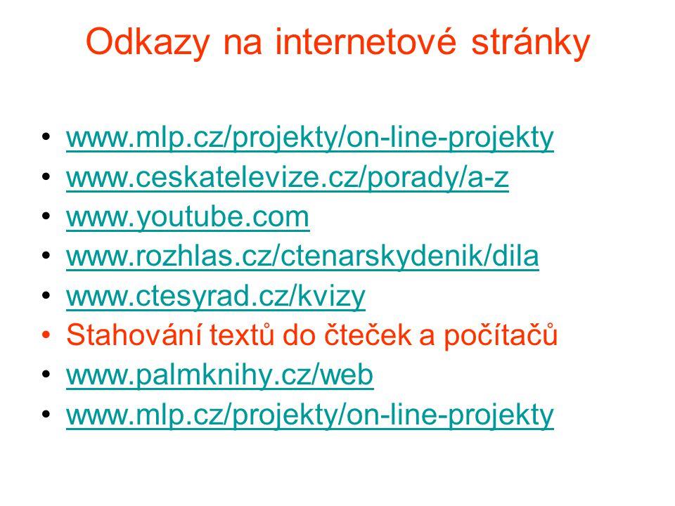 Odkazy na internetové stránky