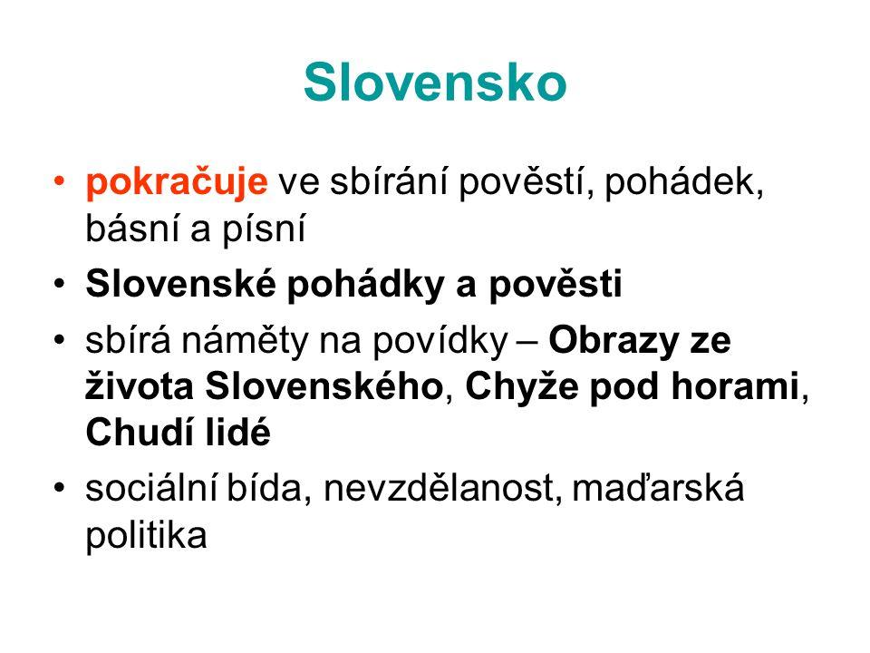 Slovensko pokračuje ve sbírání pověstí, pohádek, básní a písní