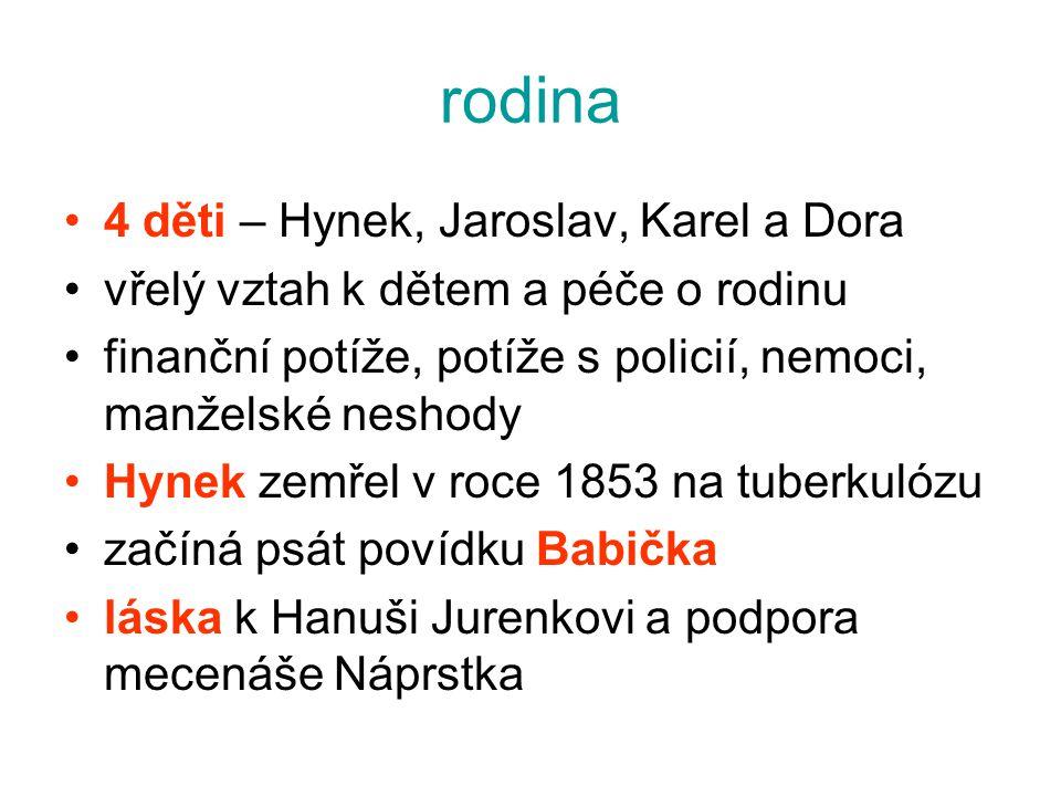 rodina 4 děti – Hynek, Jaroslav, Karel a Dora
