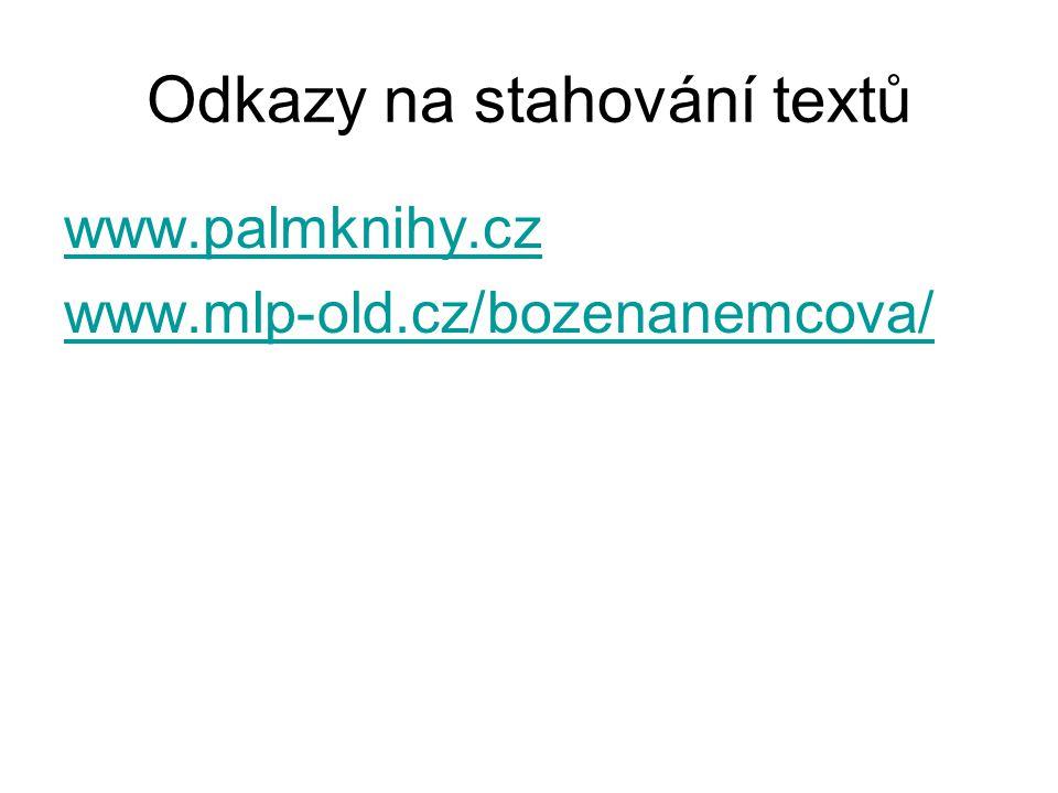 Odkazy na stahování textů