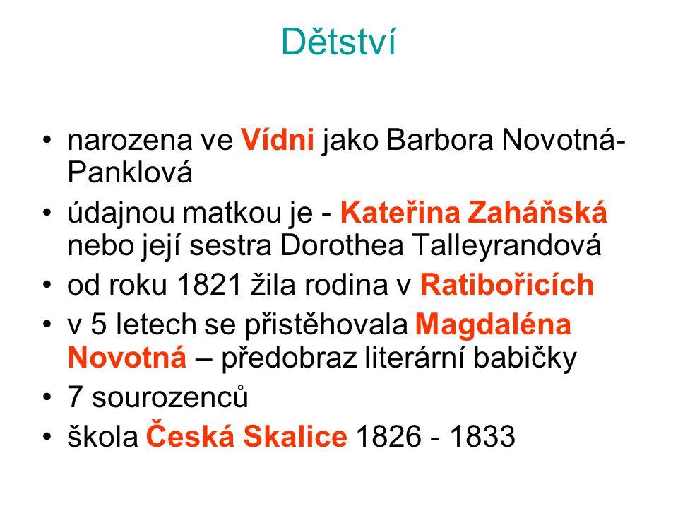 Dětství narozena ve Vídni jako Barbora Novotná-Panklová