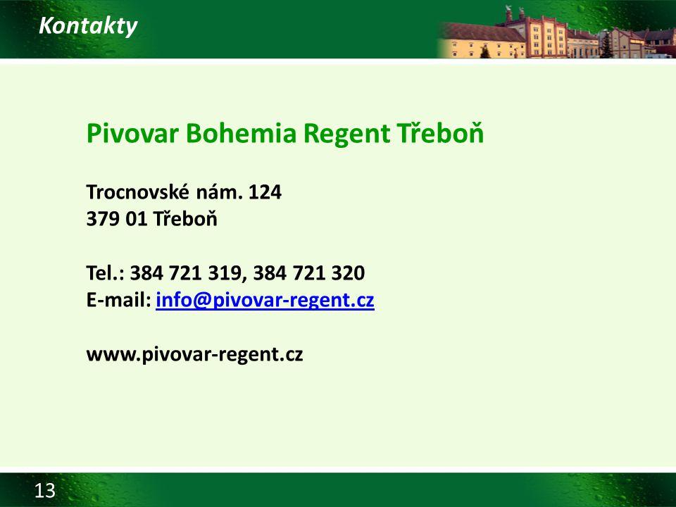 Pivovar Bohemia Regent Třeboň
