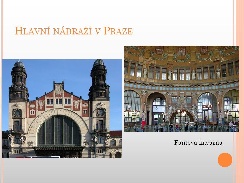 Hlavní nádraží v Praze Fantova kavárna