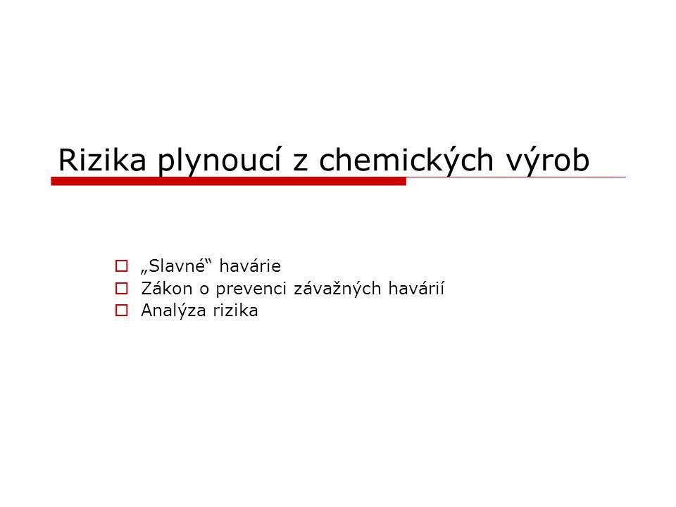 Rizika plynoucí z chemických výrob