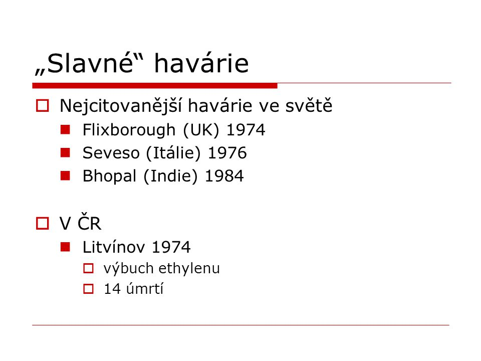 """""""Slavné havárie Nejcitovanější havárie ve světě V ČR"""