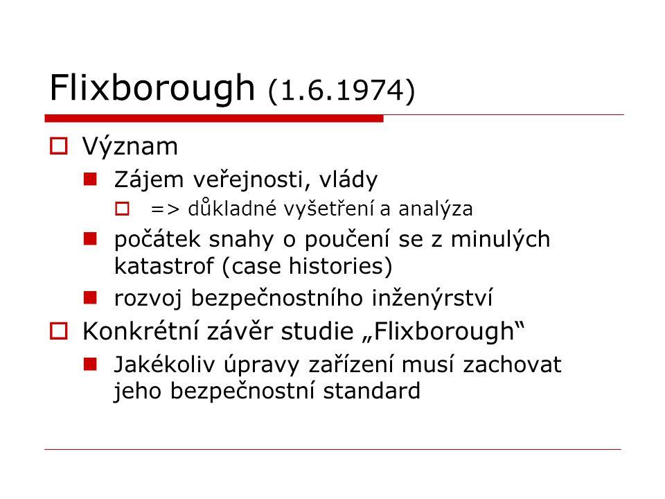 """Flixborough (1.6.1974) Význam Konkrétní závěr studie """"Flixborough"""