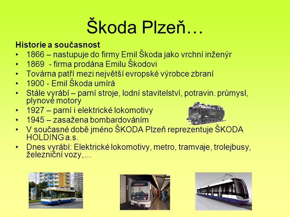 Škoda Plzeň… Historie a současnost