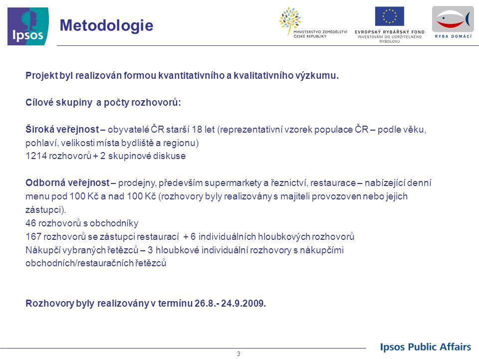 Metodologie Projekt byl realizován formou kvantitativního a kvalitativního výzkumu. Cílové skupiny a počty rozhovorů: