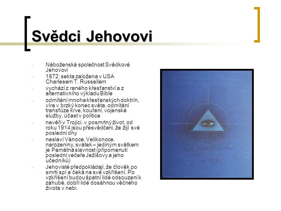 Svědci Jehovovi Náboženská společnost Svědkové Jehovovi