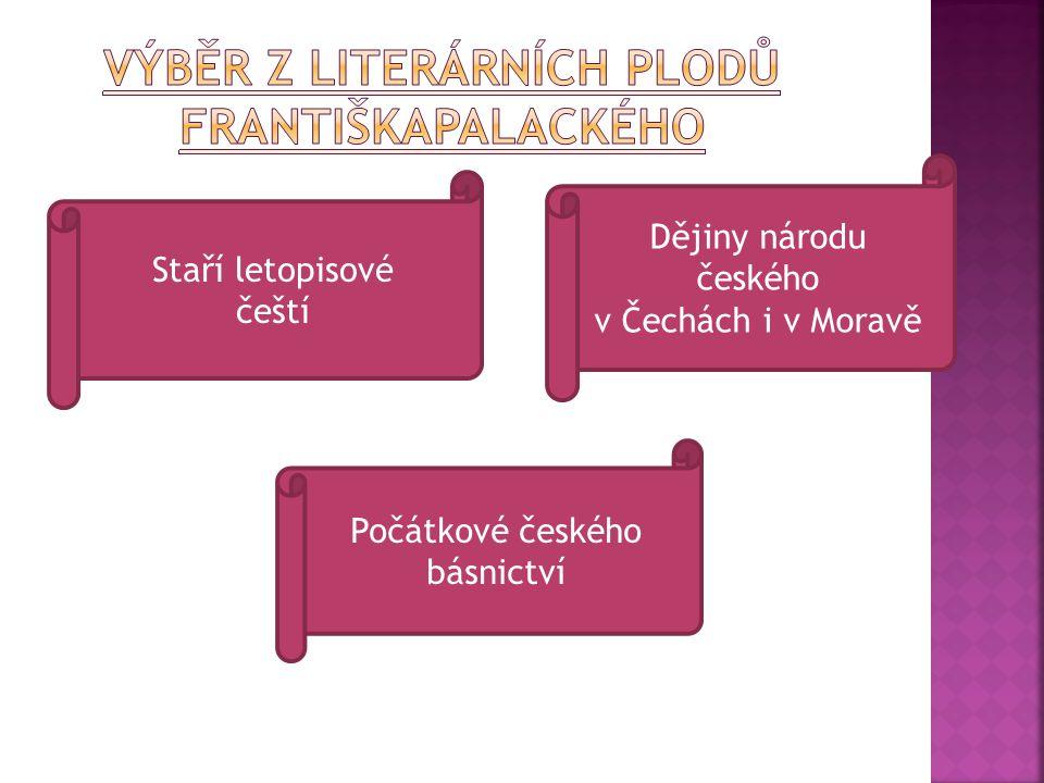 Výběr z literárních plodů FrantiškaPalackého