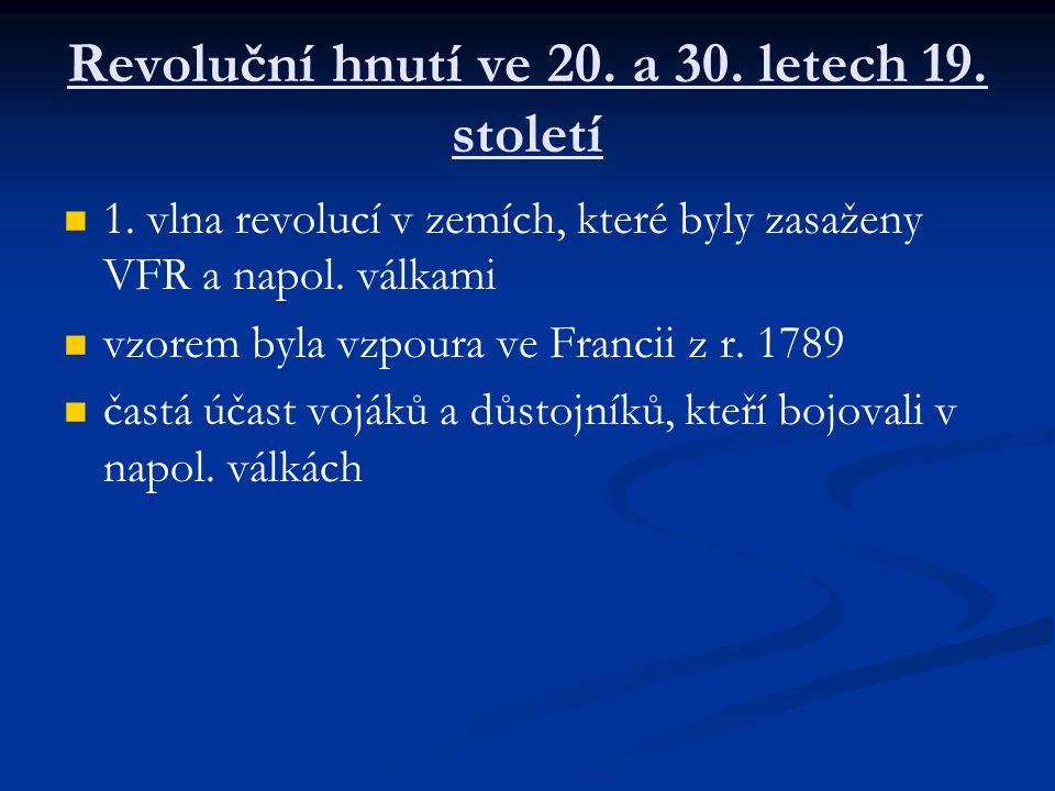 Revoluční hnutí ve 20. a 30. letech 19. století