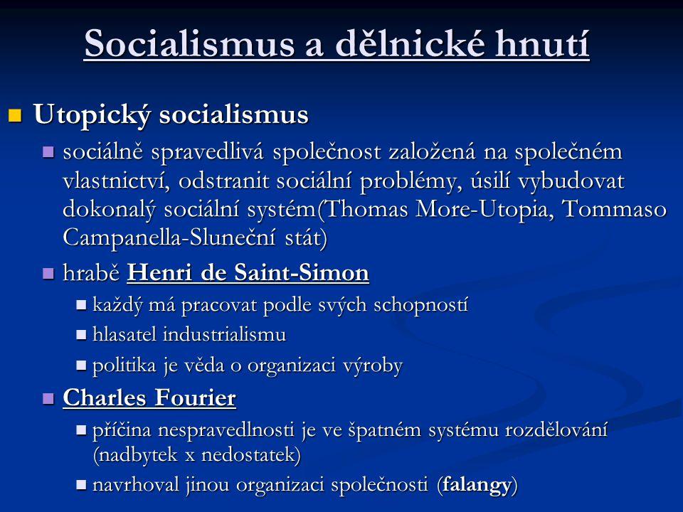 Socialismus a dělnické hnutí