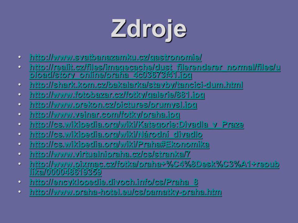 Zdroje http://www.svatbanazamku.cz/gastronomie/