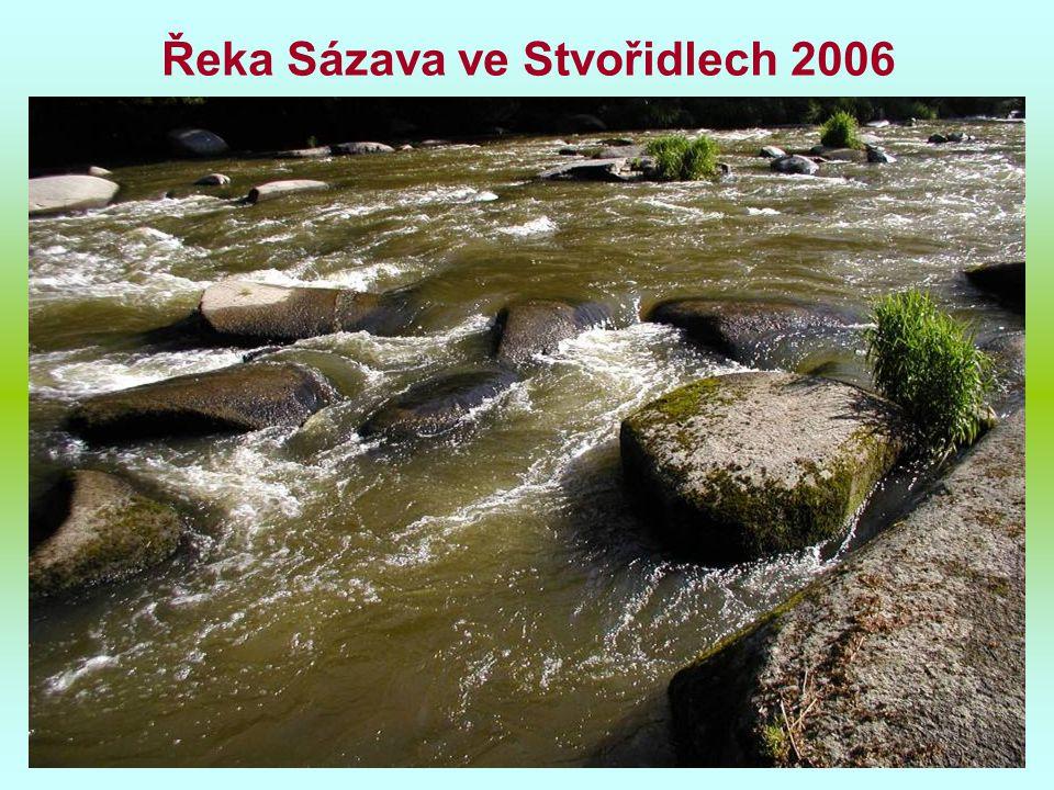 Řeka Sázava ve Stvořidlech 2006