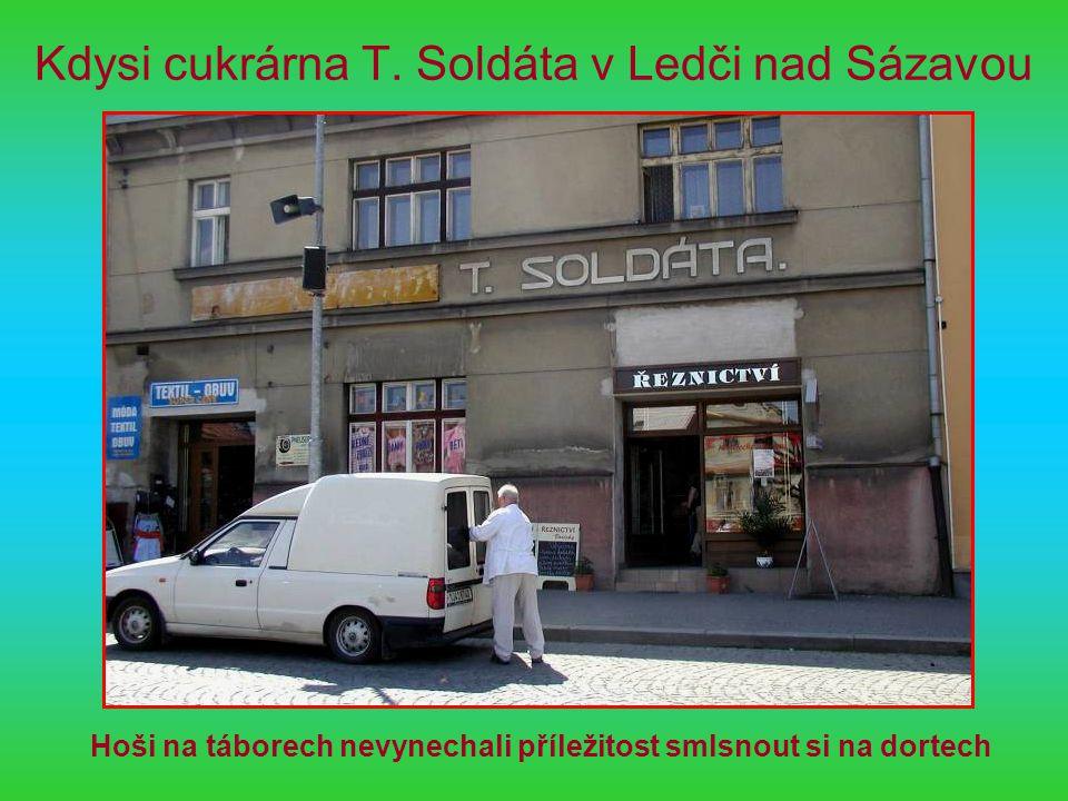 Kdysi cukrárna T. Soldáta v Ledči nad Sázavou